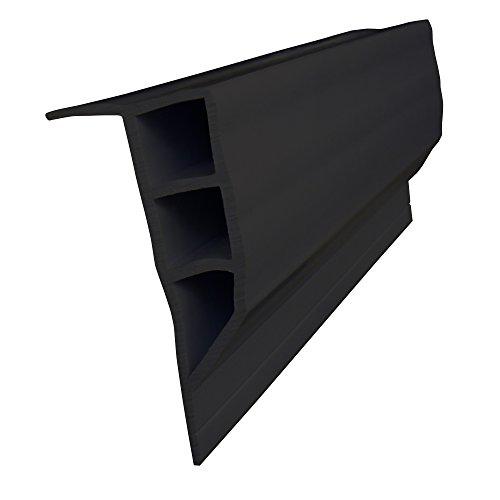 Dock Edge + Full Face PVC Profile Dock Guard, Black, 16'