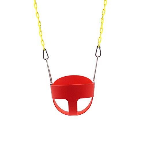Betteros Juego de columpio de jardín para niños, columpio completo con cadenas de columpio rojo/verde