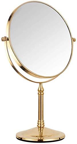 YGCBL Espejo de Pared, Espejos, Tocador de Escritorio Portátil, Escritorio Europeo de Maquillaje de Alta Definición, Aumento de 3 Veces, Tablero de Rotación Libre de 360 °, Espejos de Baño Montados