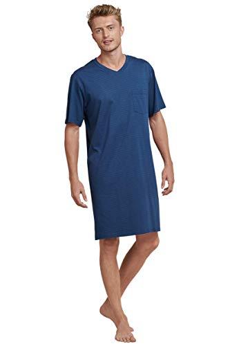 Seidensticker Herren Einteiliger Schlafanzug Nachthemd 1/2, Blau (Blau 800), Small (Herstellergröße: 048)