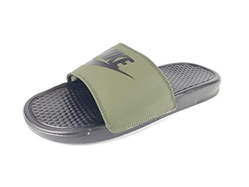 Nike Men's Benassi Just Do It. Sandal, Cargo Khaki/Black-Black (US 10)