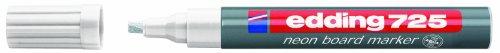 edding 725 Neon-Boardmarker Keilspitze 10 Stück weiß
