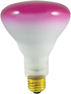 Bulbrite Incandescent BR30 Medium Screw Base (E26) Light Bulb, 75 Watt, Pink