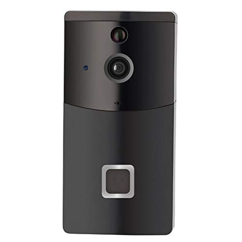 ZUEN Smart Video Doorbell Wireless Home WiFi Security Camera mit Indoor Chime, 720p Security Camera APP Control für iOS Android Google,Black