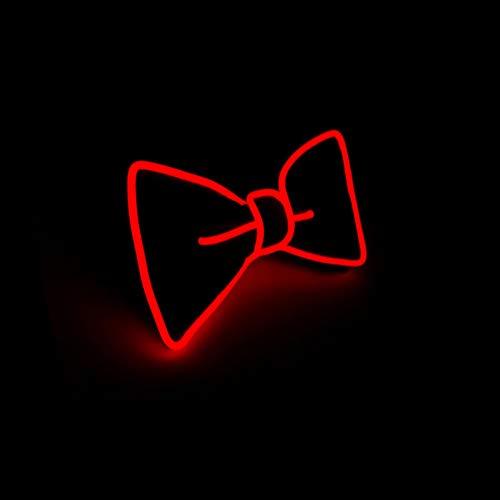 Leuchtend Krawatten Einstellbar LED Krawatte beleuchten, Neuheit Party Verkleiden Dekor (Rot)