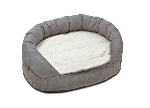 Karlie 68414 Liegebett Ortho Bed, oval, grau L: 72 cm B: 50 cm H: 20 cm grau