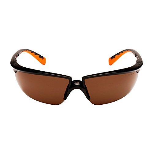 3M SOLUS Schutzbrille Solus3SO, AS/AF, PC, bronze getönt Rahmen schwarz/orange inkl. Mikrofaserbeutel