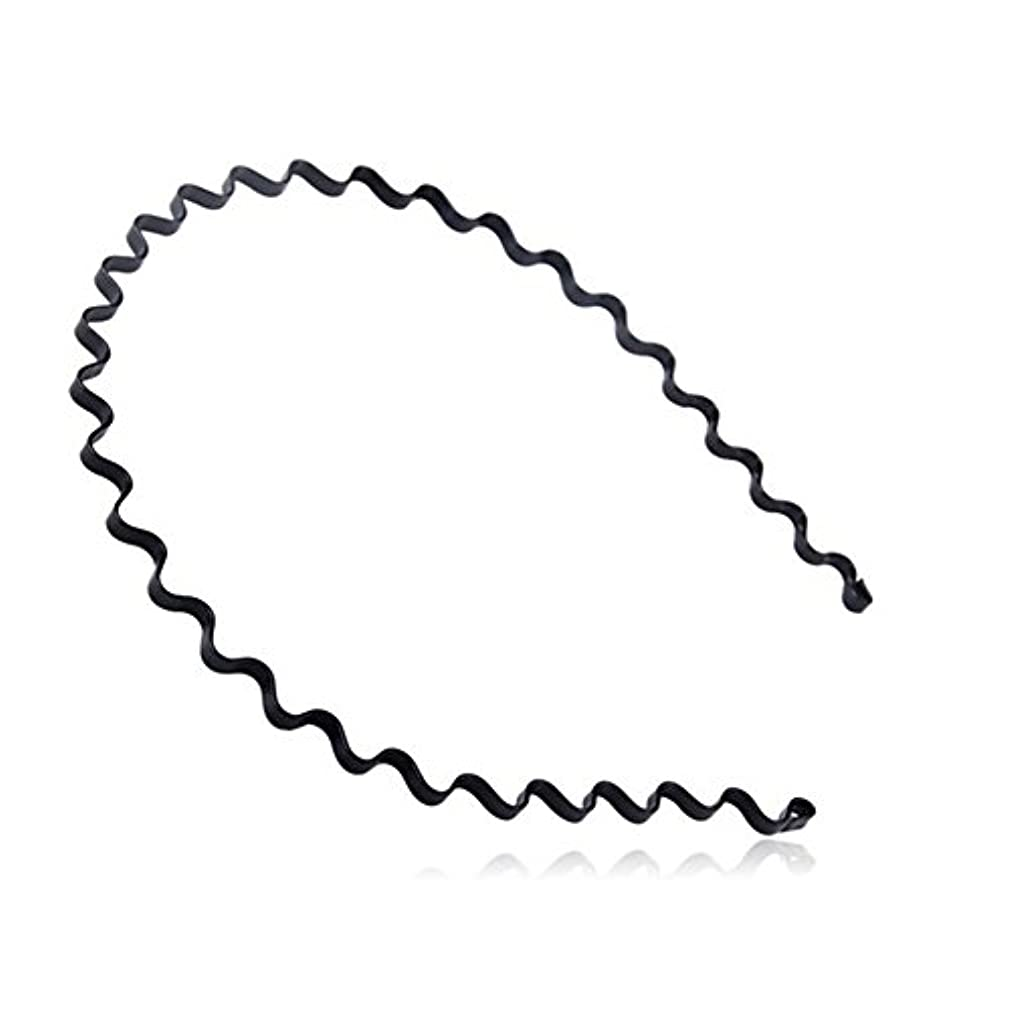 ReNext Unisex Black Spring Wave Metal Hoop Hair Band Girl/Men's Head Band Accessory