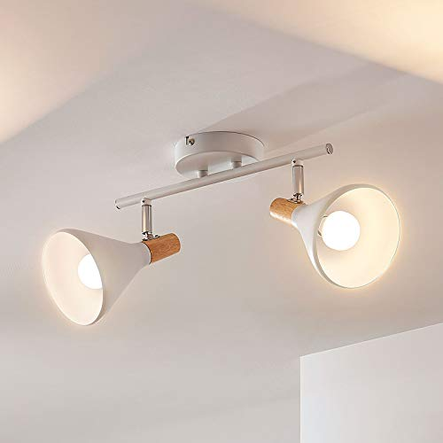 Lindby LED Deckenlampe 'Arina' (Modern) in Weiß aus Metall u.a. für Schlafzimmer (2 flammig, E14, A+, inkl. Leuchtmittel) - Deckenleuchte, Wandleuchte, Strahler, Spot, Lampe, Schlafzimmerleuchte