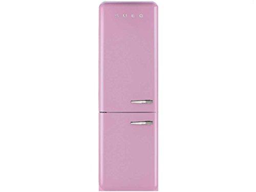 Smeg FAB32LRON1 Independiente 304L A++ Rosa nevera y congelador - Frigorífico (304 L, SN-T, 10 kg/24h, A++, Compartimiento de zona fresca, Rosa)