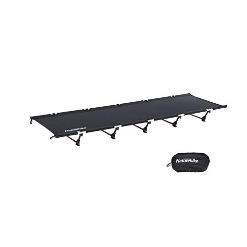 Naturehike Ultralight Folding Camping Cot Bed,Portable Compact Cot for Adults Camping,Hiking,Lightweight Backpackings,Heavy Duty Support 330 Lbs