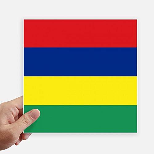 DIYthinker Mauritius Nationale Vlag Afrika Land Vierkante Stickers 20 Cm Muur Koffer Laptop Motobike Decal 4 Stks