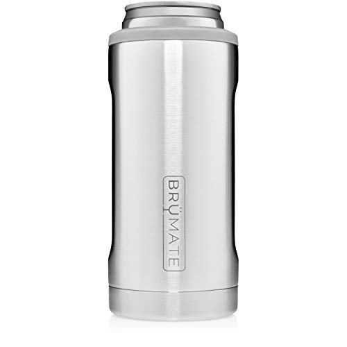 BrüMate Hopsulator Slim Double-walled Stainless Steel Insulated Can Cooler for 12 Oz Slim Cans (Stainless)
