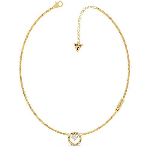 GUESS All Around You Gold Crystal Circle Necklace UBN20122