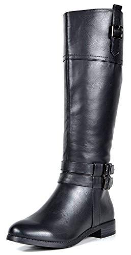 TOETOS Women's Diane Black Knee High Winter Riding Boots Size 8.5 M US