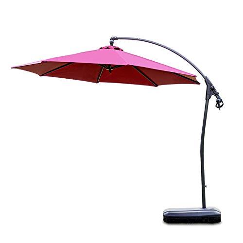 Sombrilla, acodado for el Ascenso y Descenso de Sombra jardín Patio del Paraguas del Parasol, Protección-Rojo-No a la Base
