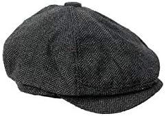 Homeslive Men's Classic New popularity Over item handling ☆ Herringbone Tweed Newsboy Wool Blend Ivy
