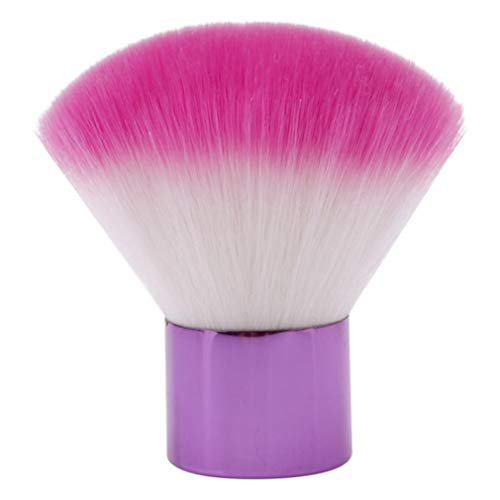 MOONRING Big Kabuki Brush Round Top Powder Liquid Cream Buffing Makeup Brush for Travel Portable, purple