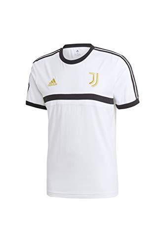 adidas Herren JUVE 3S Tee Unterhemd, Weiß/Schwarz/Pyrit, L