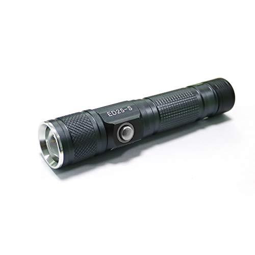 グッドグッズ(GOODGOODS) LED 懐中電灯 led 充電式 小型 軽量 防水 ハンディライト CREE XM-L T6 1800lm 5モード ズーム機能付 防災 停電対策 緊急用 キャンプ 登山 ED25-S