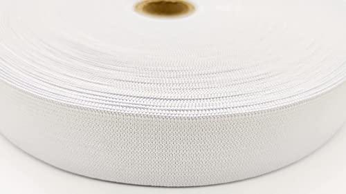 30mm breit 25 Meter Lange Weiß Elastisches Gummiband für Nähen und Haushalt Handwerk