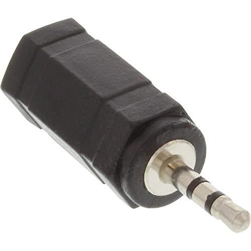 InLine 99308 Audio Adapter, 2,5mm Klinke Stecker zu 3,5mm Buchse, Stereo