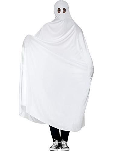 Karnevalsbud - Herren Männer Kostüm Geist Gespenst mit Bettlaken Gewand, Ghost Robe, perfekt für Halloween Karneval und Fasching, M/L, Weiß