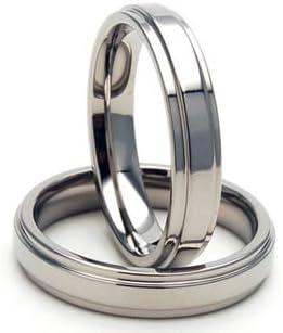4mm Titanium Rings, Titanium Wedding Rings, Titanium Bands Comfort Fit