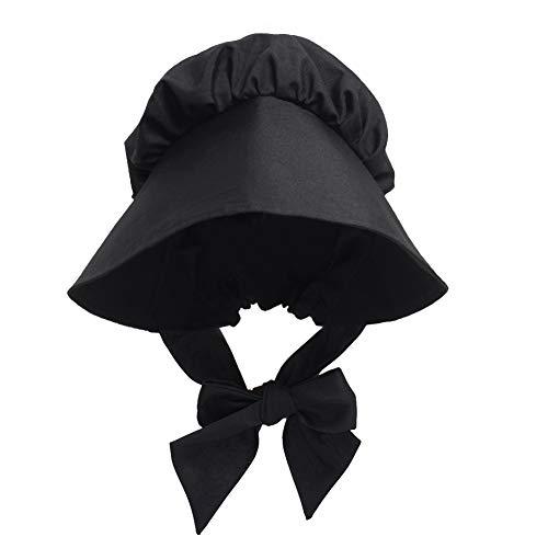 GRACEART Bäuerin Magd Hut Kopfbedeckung Hut Kolonialfrau Haube Mittelalter Kopfbedeckung Damen