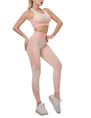 PIZOFF Naked Sensation Multisport Fitness Ensemble débardeur + leggings - Rose - Small