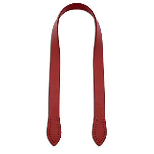 Trageriemen, Asudaro 2er Set PU Leder Taschengriffe 60cm Damen Abendtasche Taschenbügel Taschenhenkel Handtasche Ersatzriemen Schultergurt Tragegriffe Taschenzubehör Handtaschengriffe Rot