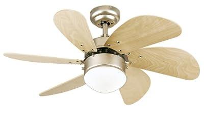Westinghouse Turbo Swirl One-Light 30-Inch Six-Blade Ceiling Fan