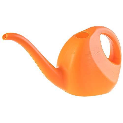 KADAX Gießkanne, 2 Liter, kleine Gartengießkanne aus Kunststoff, Blumengießkanne mit langem Auslauf, für Innen und Außen, Haus, Garten, Blumen, Zimmerpflanzen, Bewässerung (Orange)