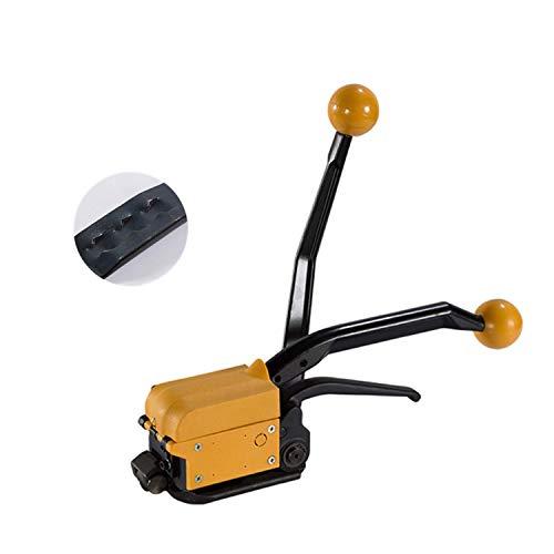 Hanchen Flejadora de Acero Manual Herramienta de Fleje de Acero sin Hebilla Máquina de Embalaje Industrial para Banda de Acero de 13-19mm