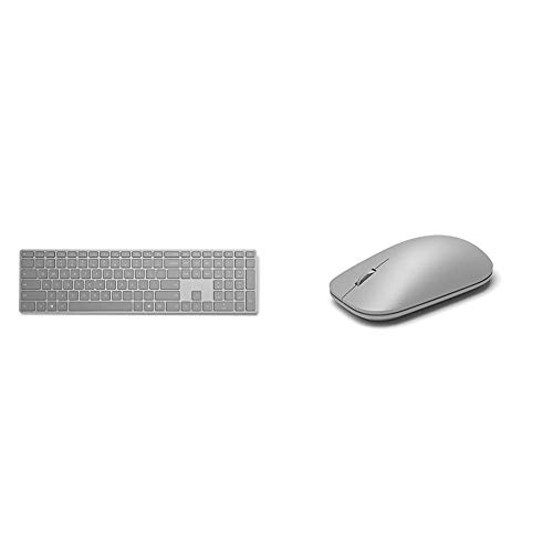 Microsoft Surface Bluetooth Keyboard (Grey) and Bluetooth Mouse (Grey)