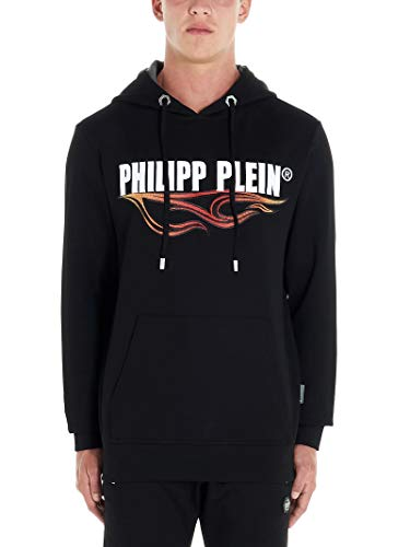 Philipp Plein Luxury Fashion Homme MJB1279PJO002N02 Noir Élasthanne Sweatshirt | Automne-Hiver 19
