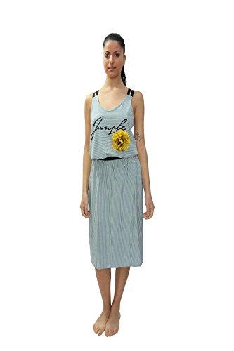 Lowara jurk, Pepita Style, brede schouders, in het midden bedrukt, van zachte trui