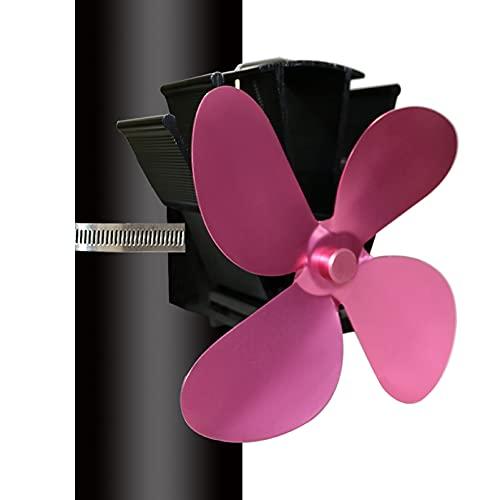 HOUSEHOLD Ventilador de Estufa térmico de 4 aspas, Ventilador de Chimenea de Humos silencioso, Ventilador de Estufa térmico ecológico para Chimenea de leña en Chimenea