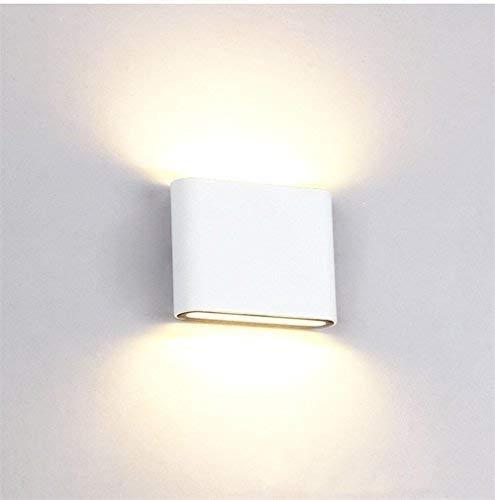 Louvra Applique Murale Led 6W Intérieure Extérieure Étanche Lampe Décorative Moderne Créatif Éclairage Design Lumiaire En Aluminium Pour Chambre Maison Couloir Salon Blanc Chaud Salle de Bain