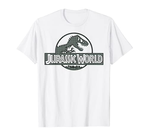 Jurassic World Green Mesh Style Logo Maglietta