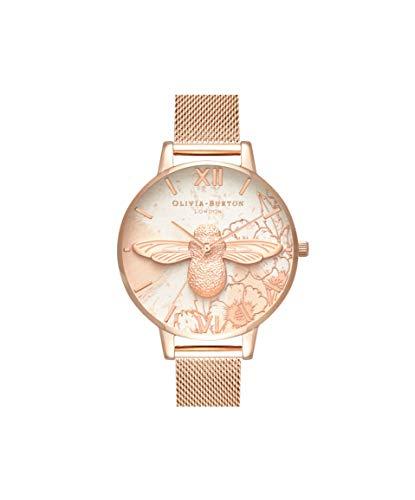 Olivia Burton Damen Analog Japanisch Quarz Uhr mit Edelstahl Armband OB16VM26