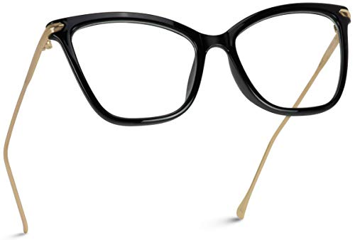 WearMe Pro - New Elegant Oversized Clear Cat Eye Non-Prescription Glasses