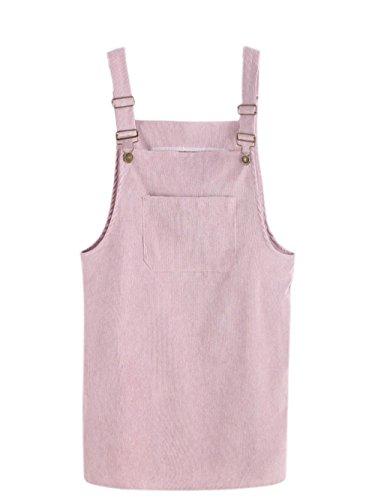 SOLY HUX Vestido Pichi de Pana con Bolsillo - Rosa S