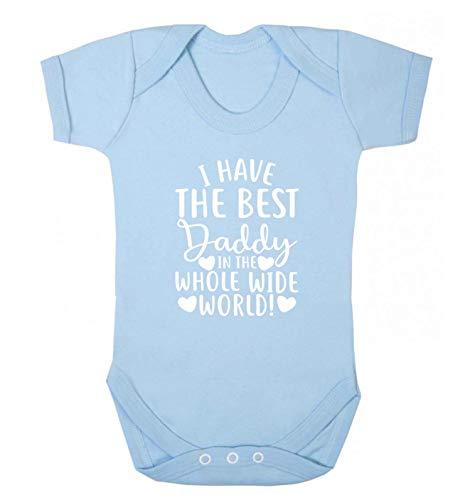 Flox Creative T-shirt pour bébé « I Have The Best Daddy in The World » - Bleu - XS