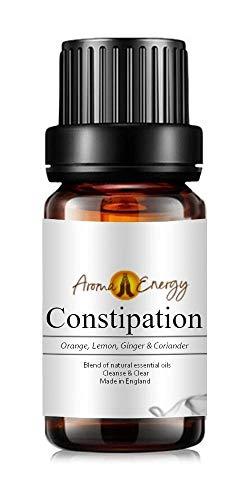 Constipation Life Oil (10ml) - Blend of Orange, Lemon, Ginger & Coriander Pure & Natural Essential Oils (Use with Aromatherapy Diffuser, Burner, During Yoga, Meditation, Massage, Bath)