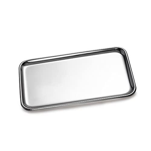 IMEEA コイントレー 釣り銭トレー キャッシュトレイ ステンレス 鍵おき お会計皿 玄関 小物置き 方形 シルバー