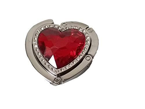 Wenko Handtaschenhalter Taschenhalter Handtaschen-Butler (Taschenhalter rot Herz)