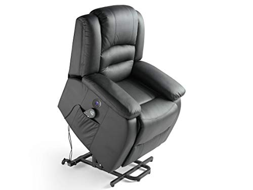 ECO-DE - Sillon de masaje elevador ECO-DE Maximum Negro ECO-8198UP BLACK
