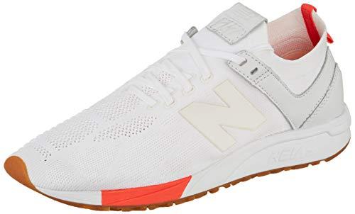 New Balance Unisex-Erwachsene MRL247-DE-D Sneaker, Weiß (weiß/rot weiß/rot), 46.5 EU