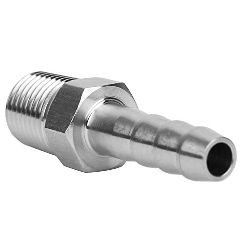 Regalo de julio Junta de lengüeta, conector macho BSPT anticorrosión de 1/4 pulg, Para una conexión rápida, transporte de aire comprimido, equipo neumático de fácil(BSPT1/4-8mm)